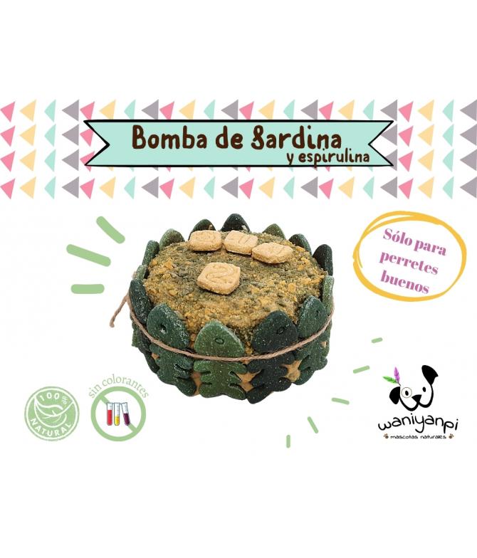 Tarta para perros de Bomba de Sardinas y Espirulina