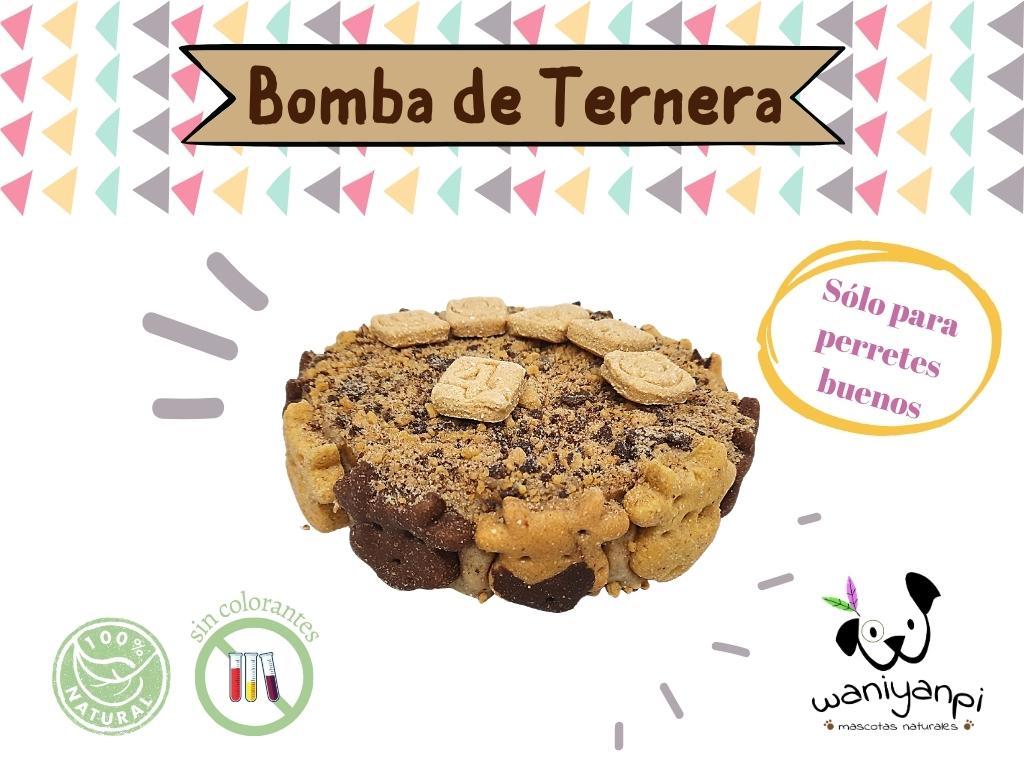 Tarta para perros de Bomba de Ternera y Algarroba