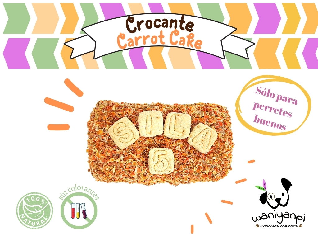 Tarta para perros crocante Carrot Cake